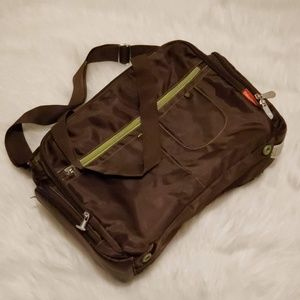 Fisher-Price Brown Green Carryall Diaper Baby Bag